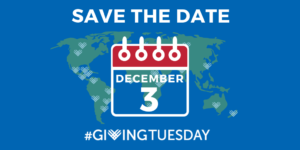 Save the date Giving Tuesday December 3, 2019
